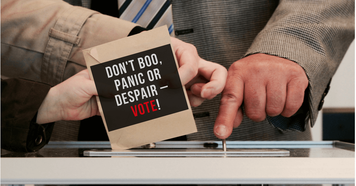 Don't Boo, Panic or Despair – Vote!