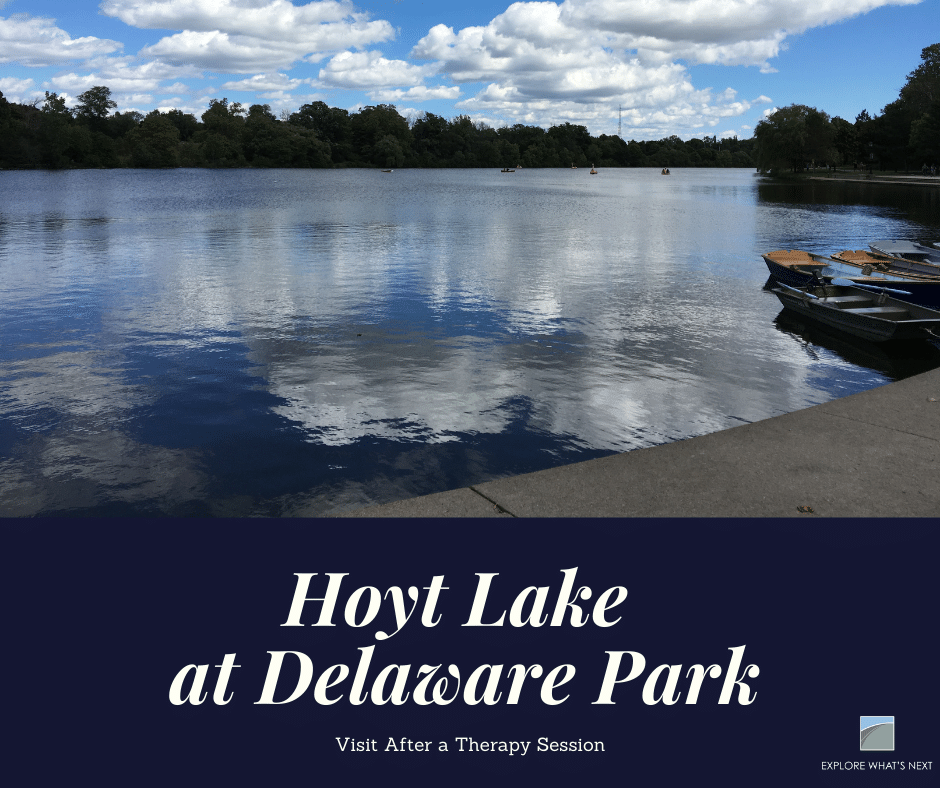 """Photo of Hoyt Lake at Delwaware Park for the article """"5 Parks to Visit After a Therapy Session"""""""