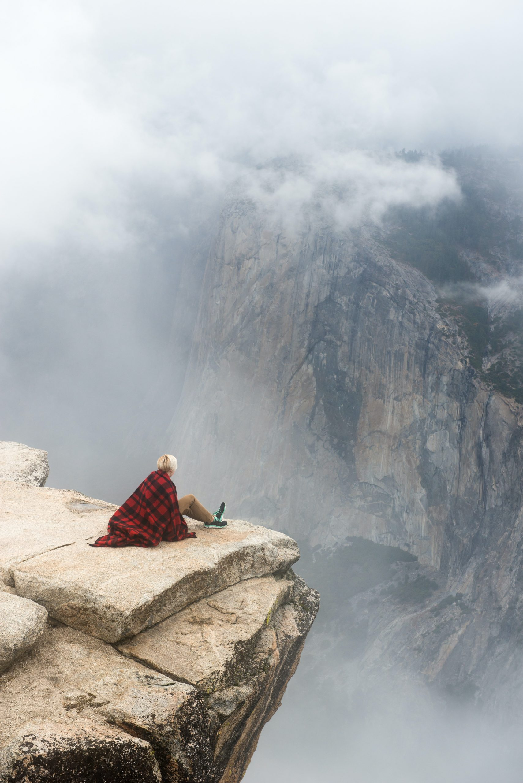 emdr section image of person looking over a cliff